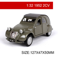 Maisto Bburago 1:32 Diecast Model Car 1952 2CV Classic Cars Vehicle Play Collectible Models Sport Cars toys For Gift Collection