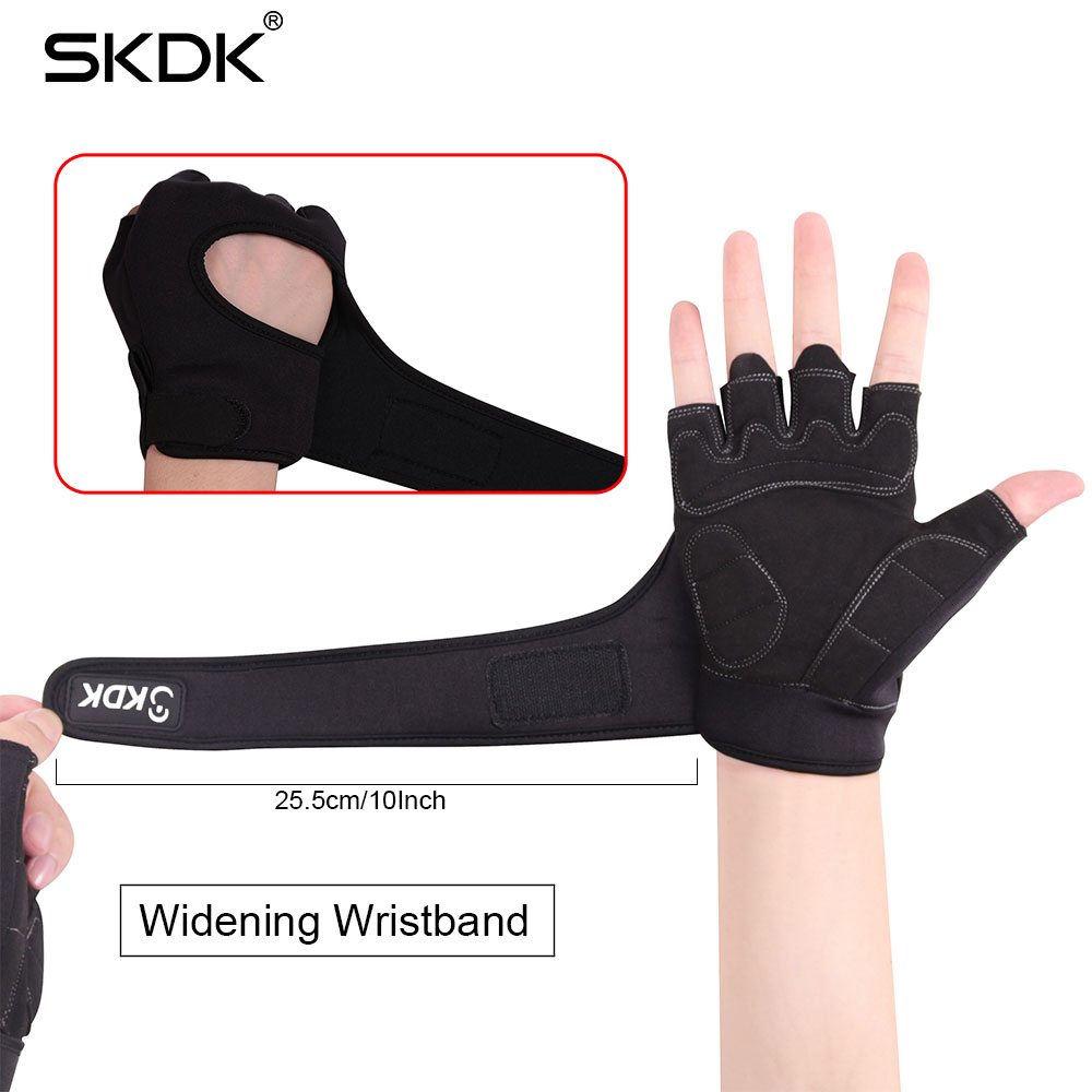 SKDK Super Fiber Élargissement Bracelet Respirant Gym Fitness Gants Crossfit Haltérophilie Haltère Séance D'entraînement de Gants