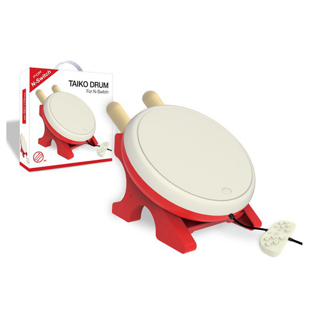 Drum Controller Taiko Drum for Nintendo Switch Drumstick Grip Holder Game Accessories Set