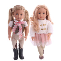 Free Shipping By E packet American Doll Alive 18 Inch Reborn+Fashion Clothes (Include Doll )Long Curly Hair For Generation Toy