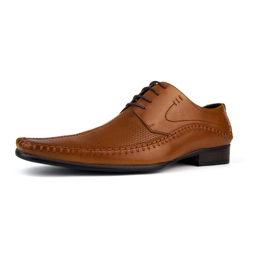 Designer italiano oxford vintage vestido sapatos marca de couro genuíno homens esculpida sapatos casuais masculinos negócios sapatos de casamento plus size