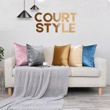 Soft Warm Velvet Cushion Cover Home Decorative Pink White Blue Throw Pillow Case 45*45cm Cushions For Sofa Decor Pillowcase
