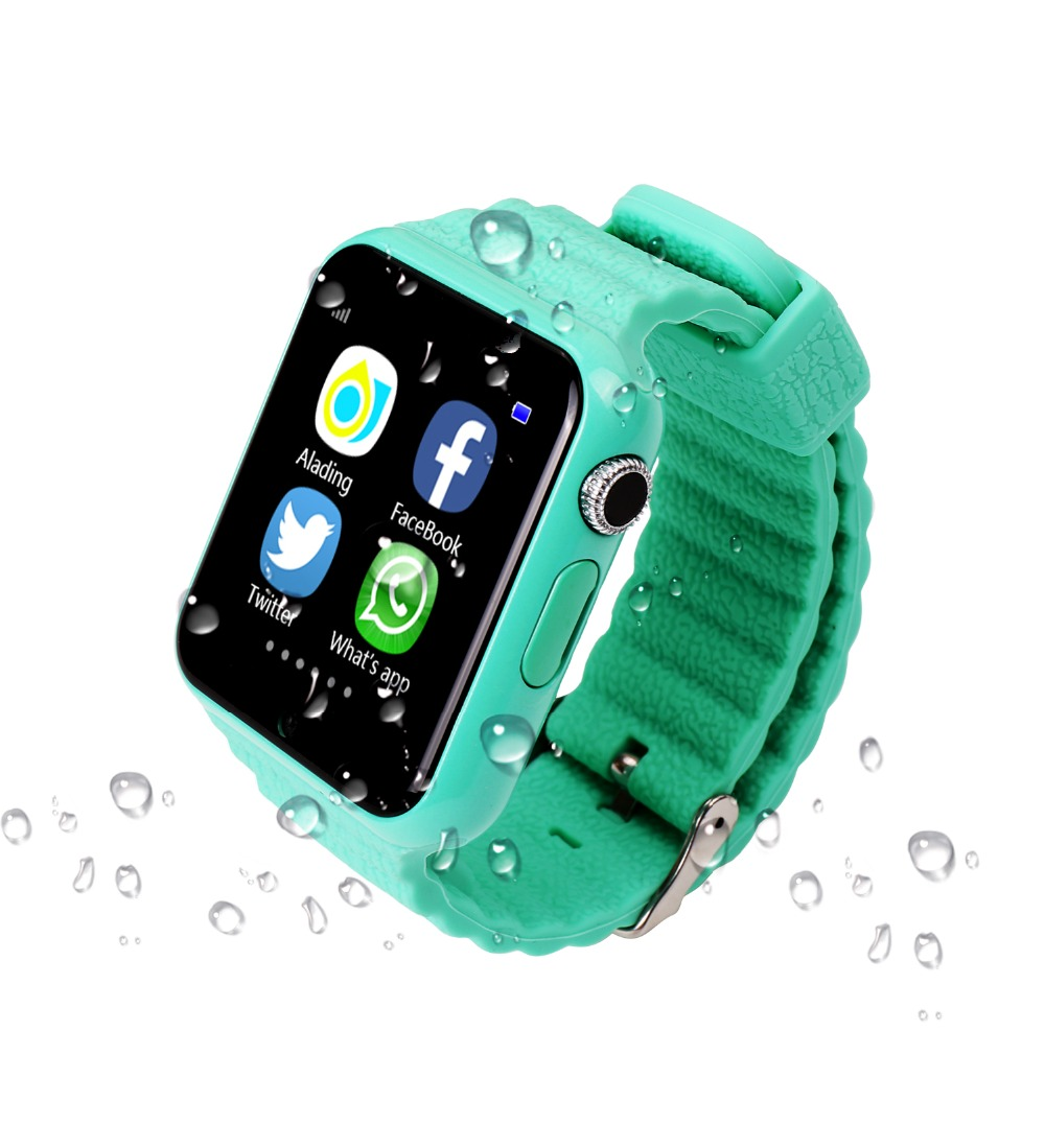 Children Security Anti-lost GPS Tracker Waterproof Smart Watch V7K 1.54'' Screen With Camera Kids SOS Emergency For Iphone&Andro