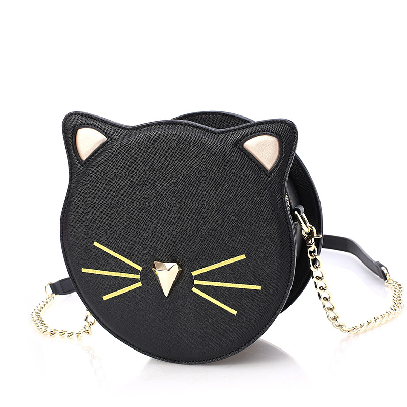 Aliexpress.com : Buy Cat Crossbody Bag Circular Women Chain ...