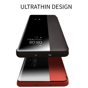 Image 5 - QIALINO אופנה אמיתי עור Flip Case עבור Huawei P30 פרו 6.47 אינץ בעבודת יד טלפון כיסוי עם חכם חלון עבור Huawei p30