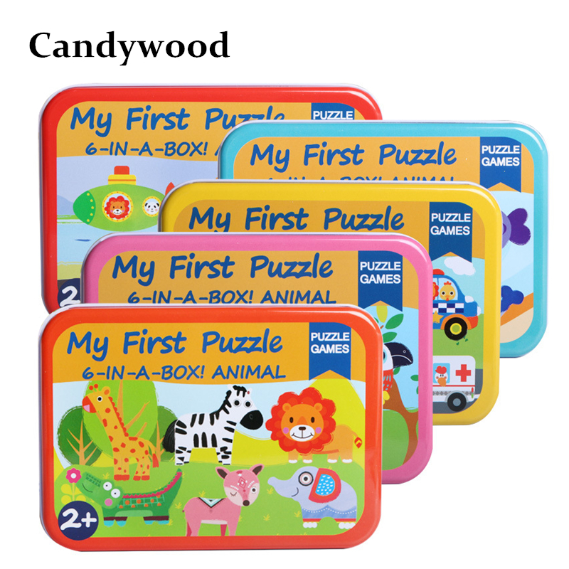 Children toys 6 in 1 box Puzzle Jigsaw Wooden Toys Cartoon Animals Traffic Puzzles Tangram Kids Educational Toy for ChildrenChildren toys 6 in 1 box Puzzle Jigsaw Wooden Toys Cartoon Animals Traffic Puzzles Tangram Kids Educational Toy for Children