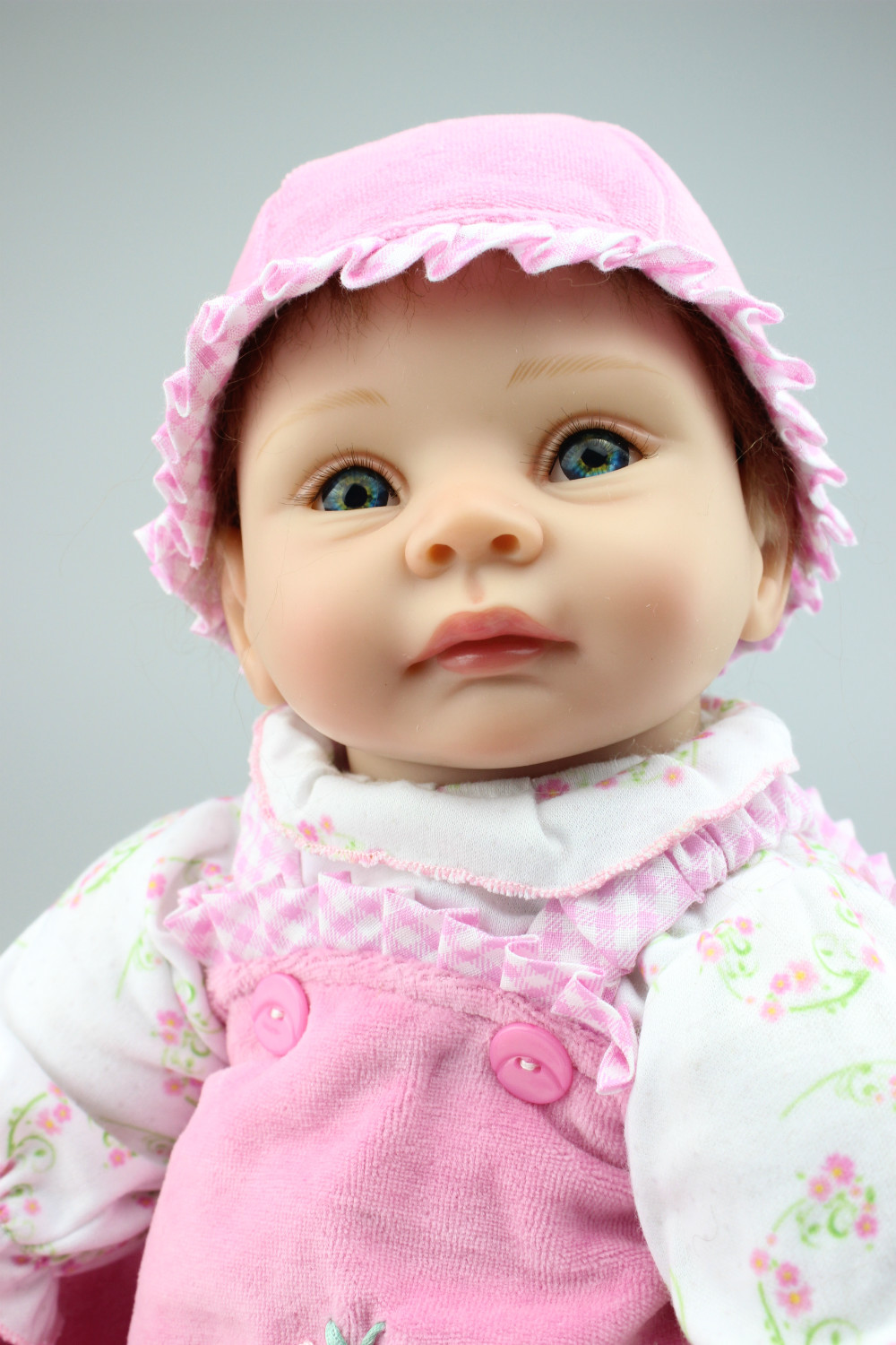 High Quality Babydoll Imported Mohair Doll Silicone Vinyl Toys Soft Cotton Body Children Birthday Present oasis mohair