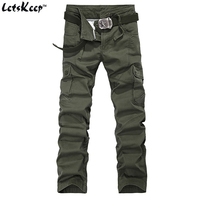 2016 Letskeep New Military Tactical Joggers Men Casual Cargo Baggy Pants Mens Cotton Army Trousers 29