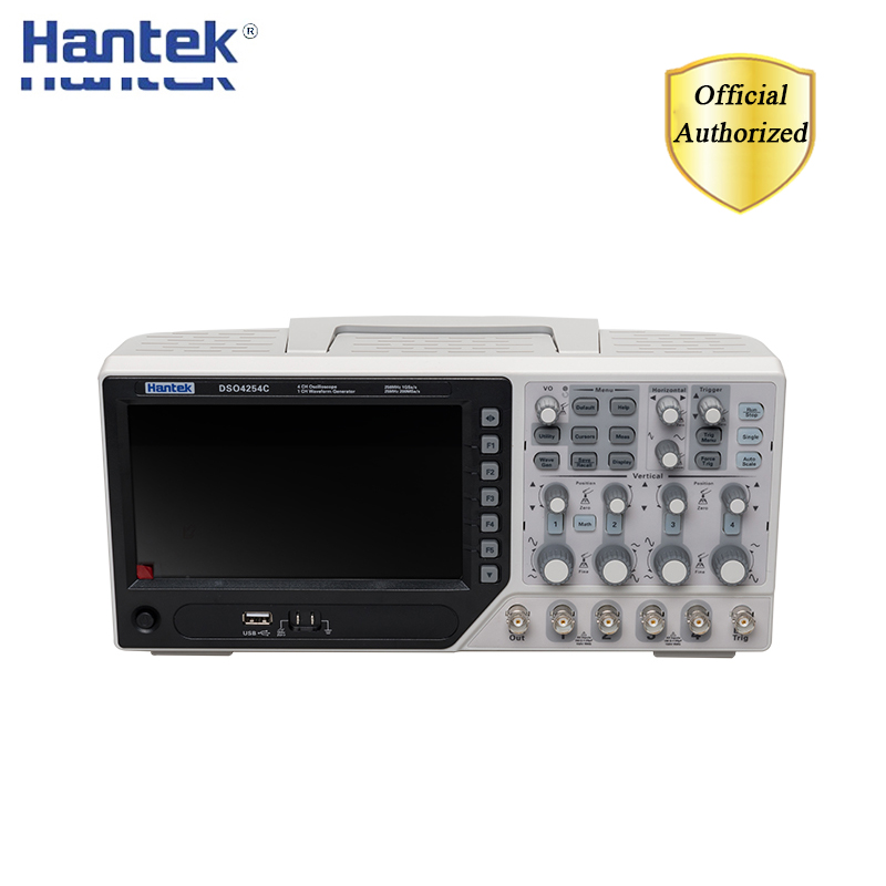 Hantek DSO4254Cデジタルストレージオシロスコープ 4 チャンネル 250 1900mhzの液晶pcポータブルusbオシロスコープ + ext + dvm + 自動レンジ機能