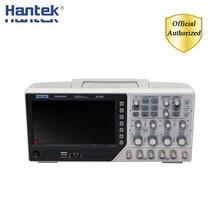 Hantek dso4254c osciloscópio de armazenamento digital 4 canais 250mhz lcd usb portátil osciloscópios + ext dvm função de faixa automática