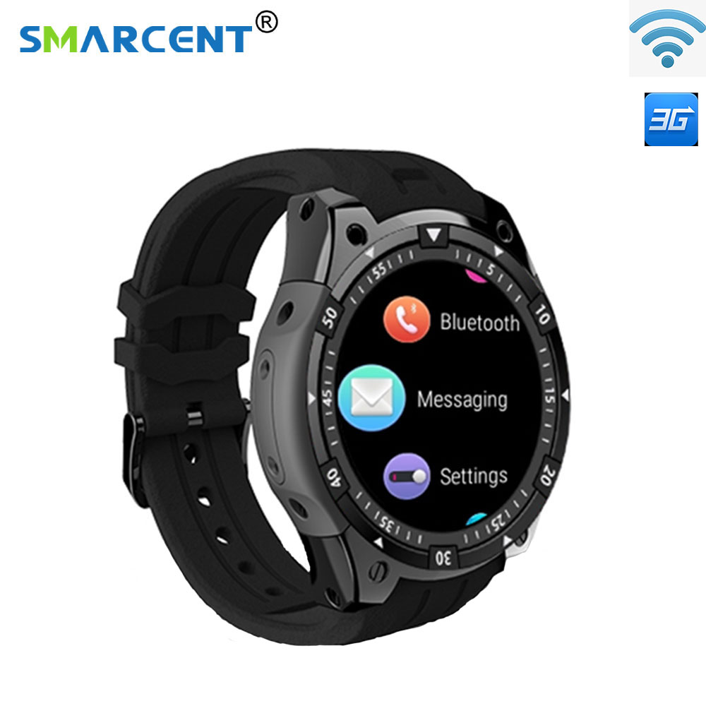цена на Smarcent 3G Smart Watch X100 MTK6580 Android 5.1 Dual Core Heart Rate GPS WiFi Smartwatch for IOS&Android phone watch