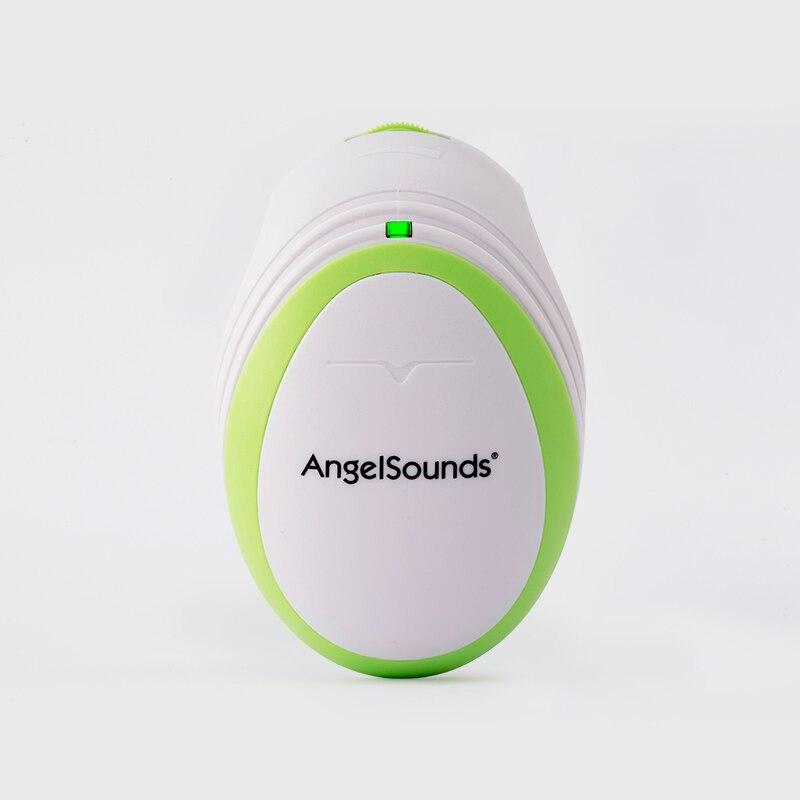 Angelsounds портативный карманный фетальный допплер детский звук сердцебиение беременных допплер пренатальный датчик для отслеживания плода 3 МГц бытовой забота о здоровье - Цвет: Зеленый
