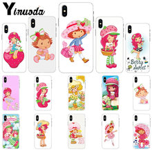 Yinuoda Moranguinho e Dora Dos Desenhos Animados Do Silicone Phone Case para iPhone 5 8 7 6 6 S Plus 5S SE MAX XR X XS(China)