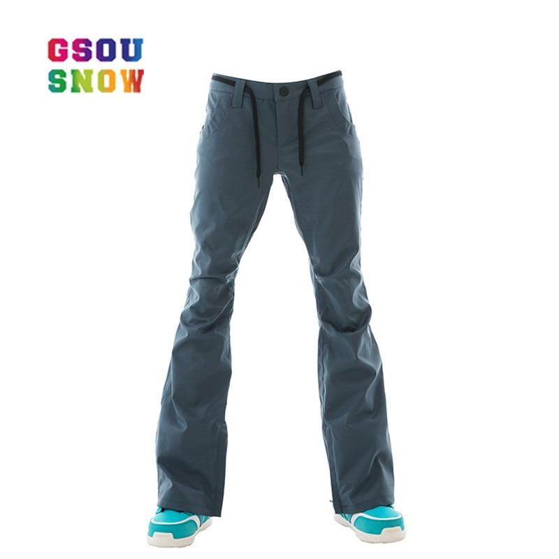 GSOU pantalon de Ski de neige femmes snowboard hiver extérieur coupe-vent pantalon de Ski nouveau chaud respirant plus épais coton de haute qualité