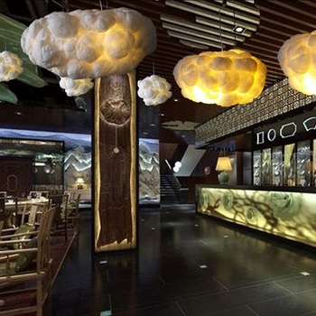 SHIXINMAO Creative floating white clouds, home decoration chandelier the clouds light KTV bar restaurant Art Pendant Ceiling