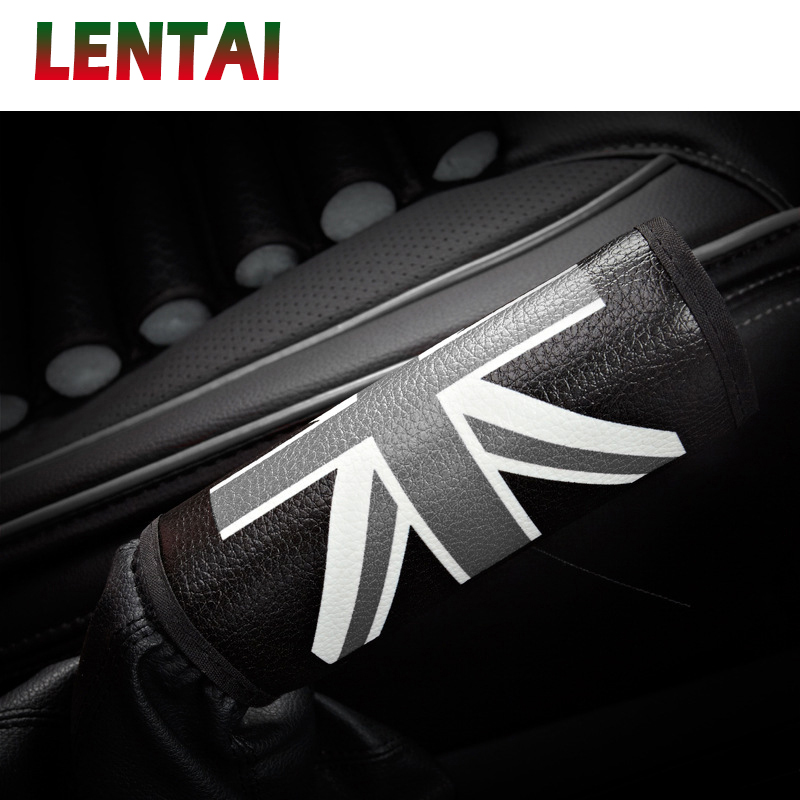 LENTAI 1Pc Auto Car Handbrake Cover Leather For Suzuki Swift Volkswagen Passat B5 B6 B8 Tiguan Jetta MK6 Skoda Octavia A7 A5