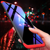 Lamocase Case for Oneplus 6 360 Full Protection Shockproof Matte Comfortable Feel Hard PC 3 In 1 for oneplus6 Cover Free Glass