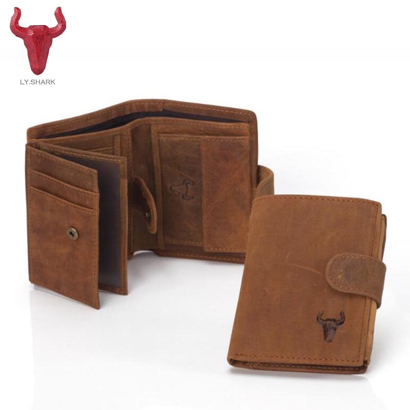 LY.SHARK Genuine Leather Men Wallet Coin Purse Card Holder Zipper Small Clutch Bags Organizer Dollar Price Walet Money Bag purse flying birds 2016 wallet leather purse dollar price men bags wallets card holder coin purses short wallet men s bag lm3421fb