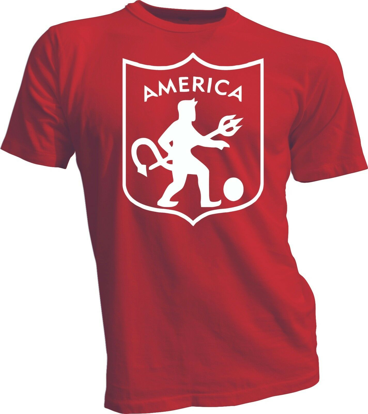 more photos 49c7b 45926 US $12.44 50% OFF|America de Cali Colombia Futbol Soccer Camiseta T Shirt  handmade jersey red-in T-Shirts from Men's Clothing on Aliexpress.com | ...