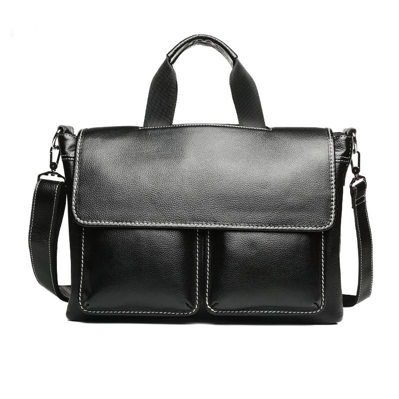 New  fashion man handbag Business Men's genuine large leather briefcases luxury brand mens shoulder bag for laptop computer bag 1toy 1toy я сама игр чайн сервиз 14 пред 2в олово круглая кор с окном т58758