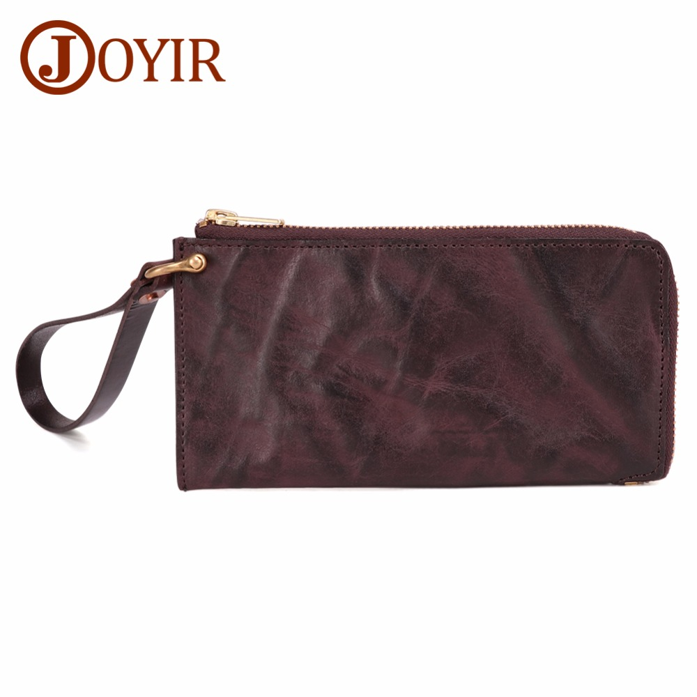Men Wallet Purses Cellphone-Bag Credit-Card-Holder Long-Clutch Genuine-Leather ID Masculina