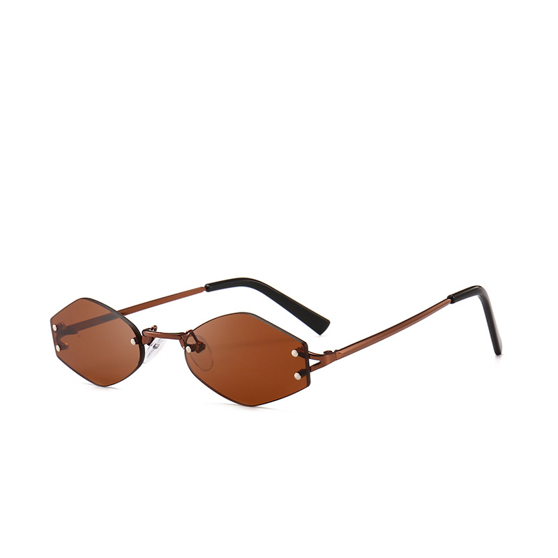 c70438c6c8d0 Lanxxy 2018 New Fashion Rimless Frame Sunglasses Women Retro Polygon Lens  Small Eyeglasses Trendy Mirror Sun Glasses-in Sunglasses from Apparel  Accessories ...
