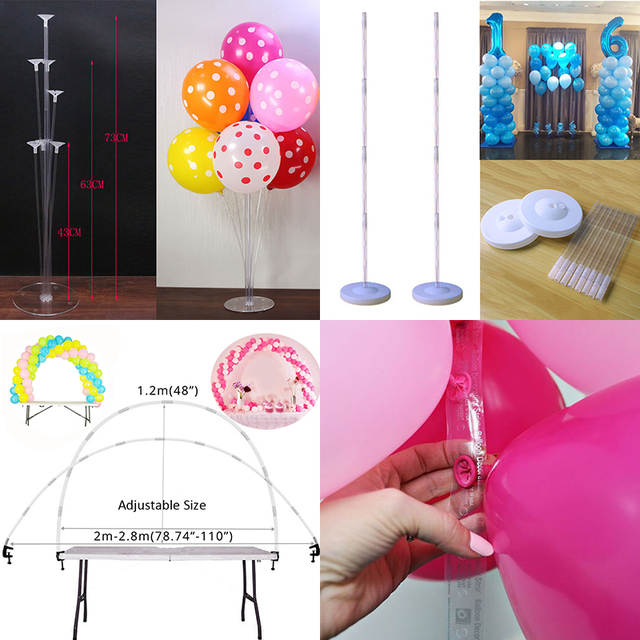 Placeholder Ballon Accessories Balloon Chain Birthday Party Decorations Kids Balloons Globos Arch Wedding Baloon Stick Supplies