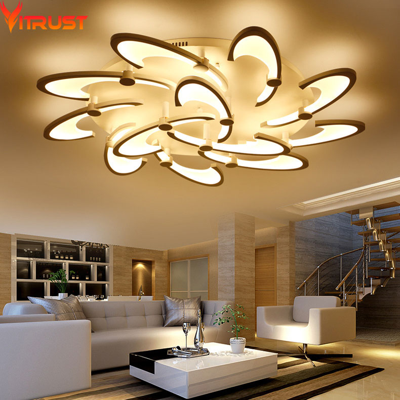 Modern LED Ceiling Lights for Living Room Bedroom  Acrylic Iron Home Lighting Fixture Indoor Ceiling Lamps KidsRemote Controller fashion modern lamps led ceiling lights indoor lighting gold electropla living dining room bedroom bar shop light fixture