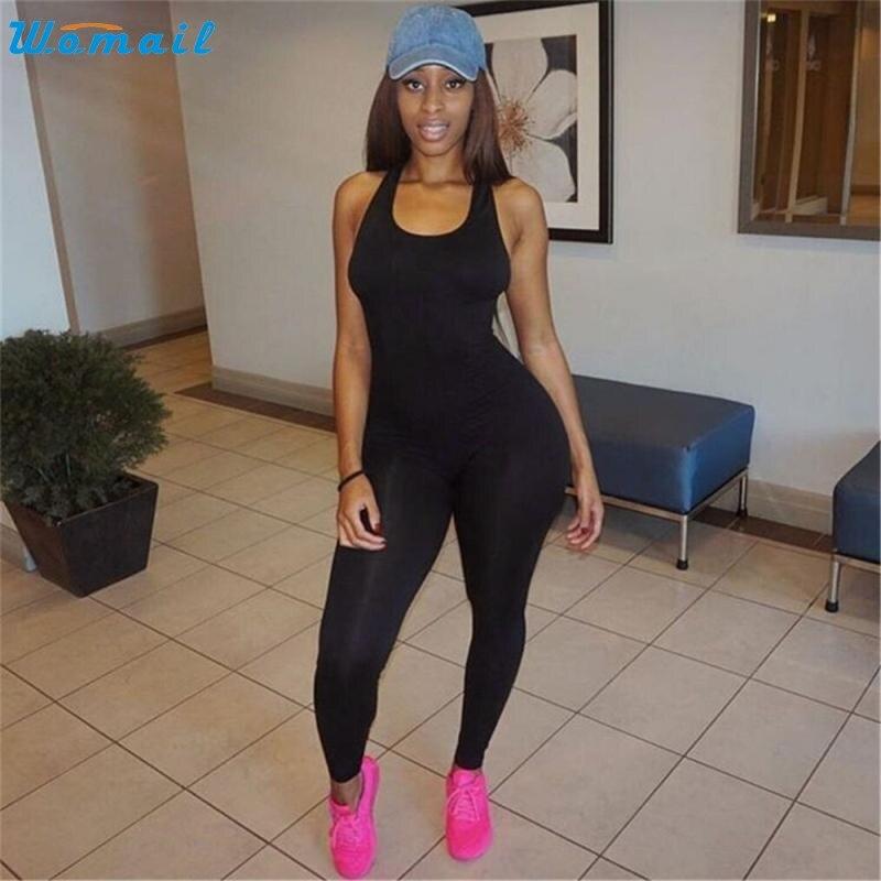 Prix pour 2017 Sports de Plein Air Yoga Remise En Forme Mis Une Pièce Salopette Mince Barboteuses Sexy Femmes leggings de Course Combinaisons et Combinaisons Dec28
