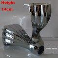 "2 pcs Metal móveis gabinete Tea Table Leg sofá pés 5.6 "" ( 140 mm ) altura de roda"