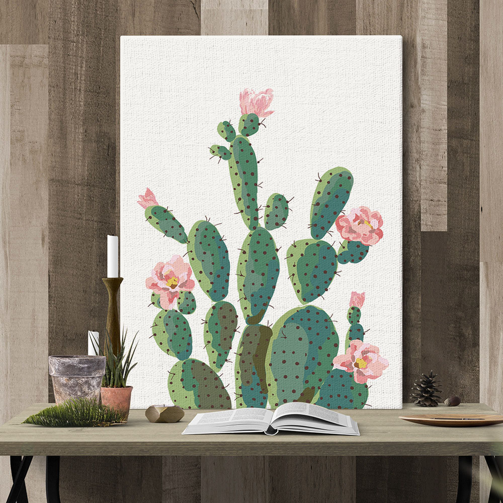 Affordable Wall Decor: Cheap Modern Wall Art Cactus Hanging Canvas Paintings For