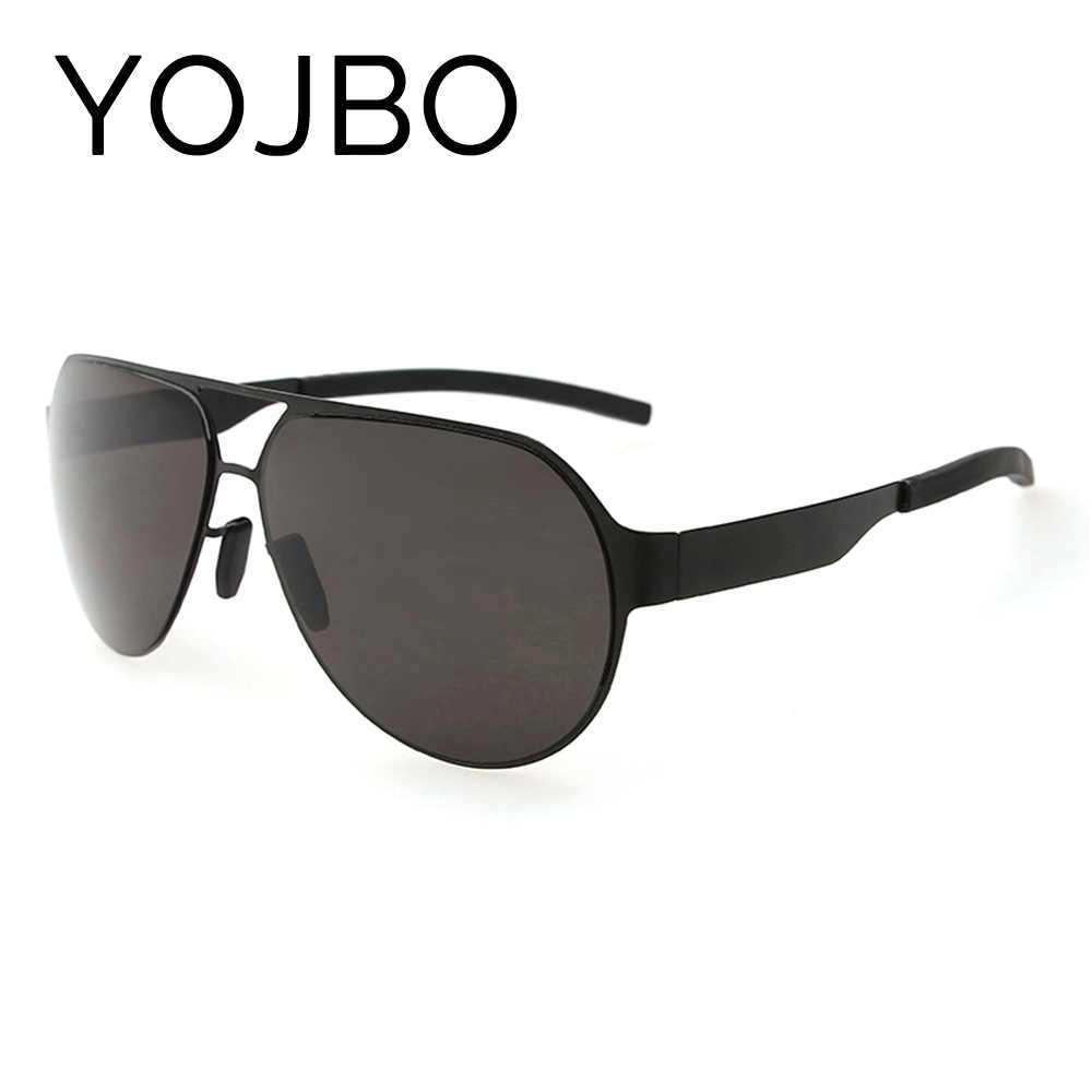 YOJBO Vintage Sunglasses Men Polarized Sport Pilot Brand Designer Mirror Sun Glasses Women UV Driving Oversized Eyewear