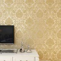 Selbst-adhesive non-woven stoff Europäischen blume tapete 3D new home dekoration tapete Warmen wohnzimmer schlafzimmer TV hintergrund