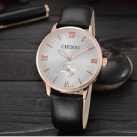 2016 New CHENXI Watch Luxury Brand Diamond Crystal Gold Case Elegant Men Quartz Wrist Gift Dress