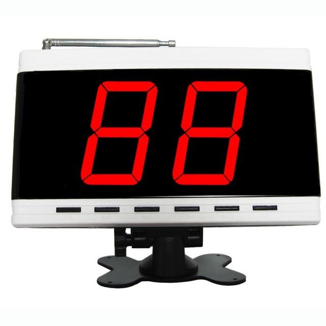 Sistema de llamada sin hilos, sistema de localización de servidor para el restaurante, cafetería, oficina, fábrica, supermarket.1 pc blanco displayer