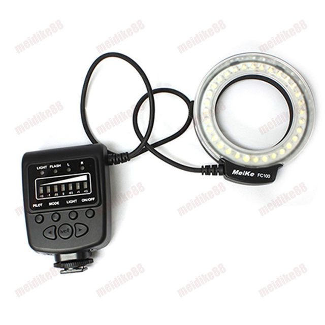 Free Shipping FC100 LED Macro Ring Flash for Canon DSLR Cameras EOS 650D 600D 60D 7D 5D 70D 550D 1000D 1100D T4i T3i T3