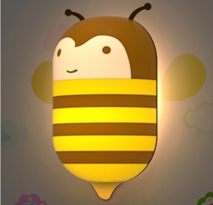 ts LED lamp DIY wallpaper The Bee lamp 3D Wall Sticker Lamp LED ...