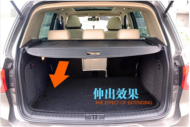 voiture ombre bouclier de s curit du coffre arri re cache bagages pour volkswagen vw tiguan. Black Bedroom Furniture Sets. Home Design Ideas