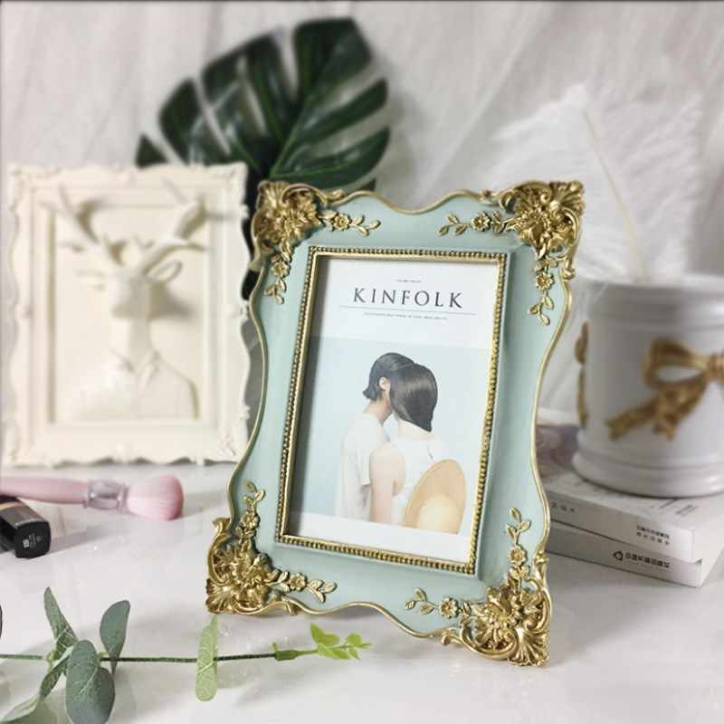 European-Style Photo Frame Retro Creative Home Small Gift 6-Inch Resin Wedding Photo Frame / Family Picture Frame