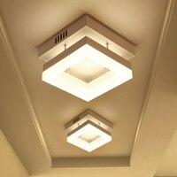 9 w LEVOU As Luzes Do Tecto de ferro e de acrílico de Alto brilho para o Banheiro corredor corredor Lâmpadas luminárias casa suporte AC90-265v