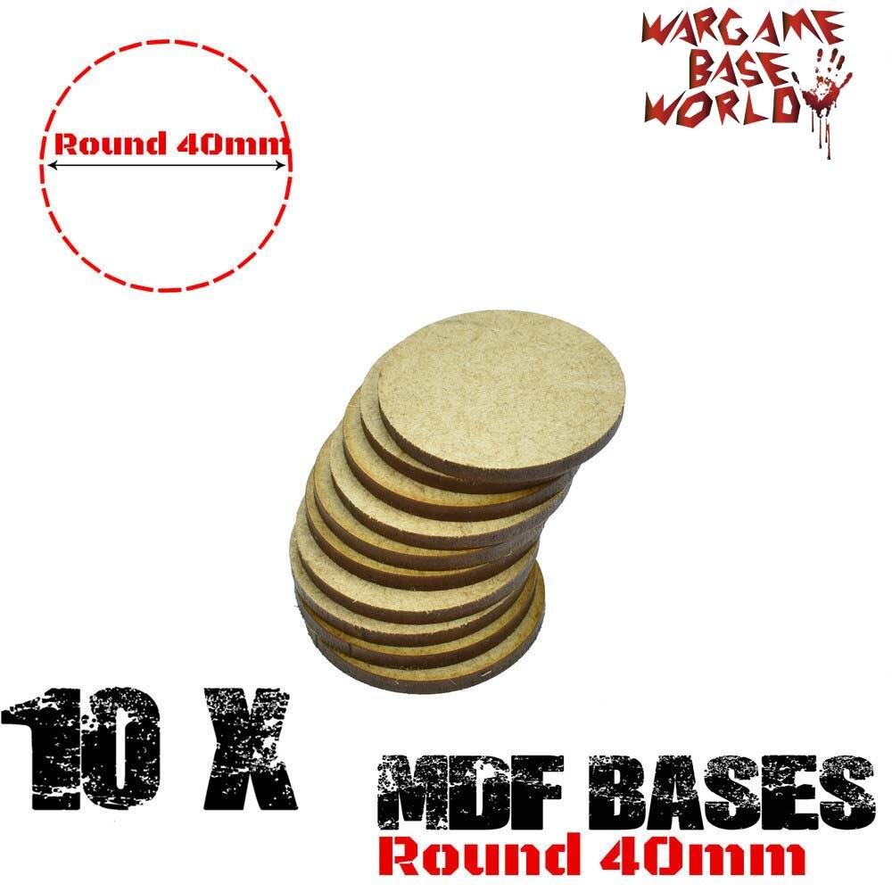 MDF Bases - 40mm Round Bases- Basing Laser Cut Wargames Wood