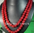 """Free deliver goods wholesale and retail Beautiful Long 50"""" 8mm Natural Red Jasper Round Beads Necklace  AAA wj330"""