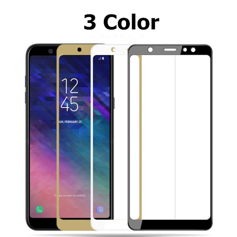 Image 2 - Protective glass on for samsung galaxy a5 a7 2016 2017 samsyng a6 a8 plus 2018 a3 a 5 7 5a samsumg screenprotector tremp glasses-in Phone Screen Protectors from Cellphones & Telecommunications