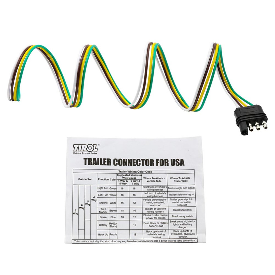 Trailer Wiring Diagram 4 Way Flat from ae01.alicdn.com