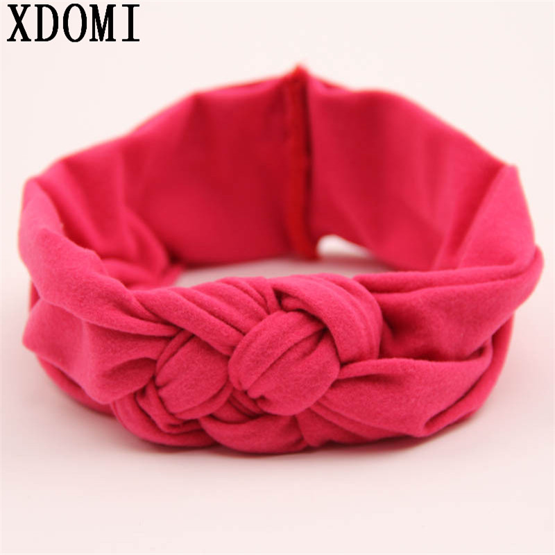 hot sale top quality cotton children headbands girls head wraps  Baby Turban Headband Elasticity Knot Headband hot sale cotton solid men tank top