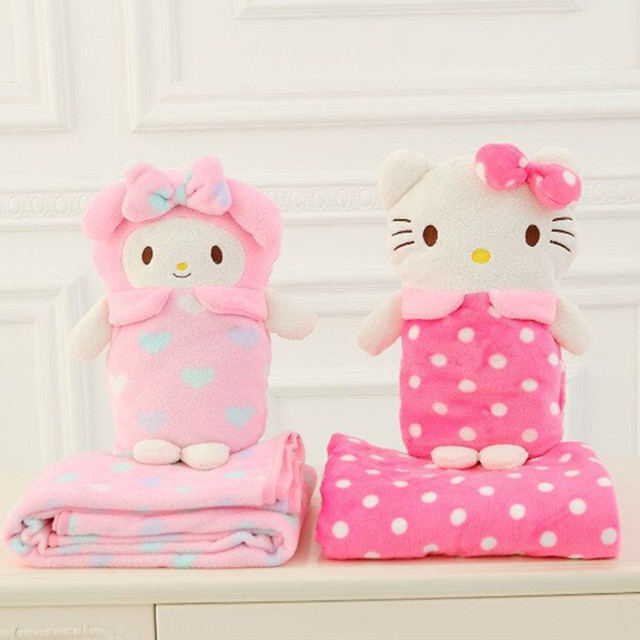 Hellokt Cute Cartoon Air Conditioning Blanket Sleeping Summer Living Room Carpet Soft And Comfortable