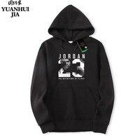 Hot Selling Jordan 23 Brand Hoodie Streetwear Hip Hop Red Black Gray Pink Hooded Hoody Mens