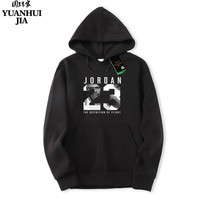 Hot Selling Jordan 23 Brand Hoodie Streetwear Hip Hop Red Black Gray Pink Hooded Hoody Mens