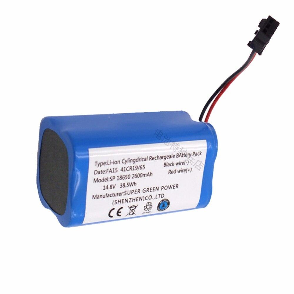 14.8 v 2600 mah de Alta qualidade venda Quente Li-Ion Substituição Bateria Recarregável para PUPPYOO V-M900R 900g robô limpador