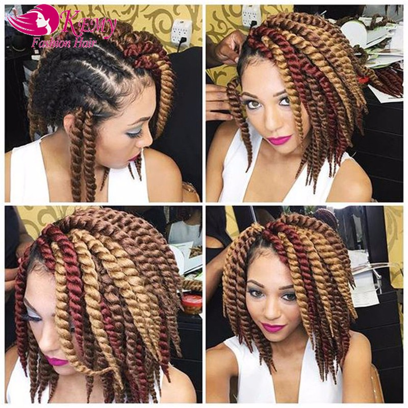 Wholesale havana mambo twist crochet hair extensions braiding hair 14inches crochet braids senegalese twist hairpieces for